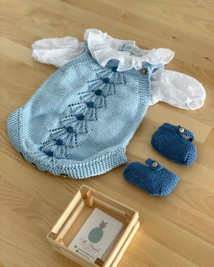patucos azul marino algodón