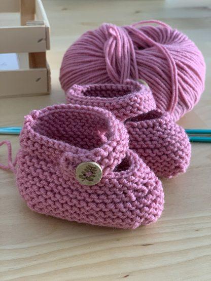 patuco rosa lana
