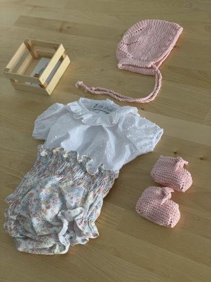 Patuco rosa bebé algodón