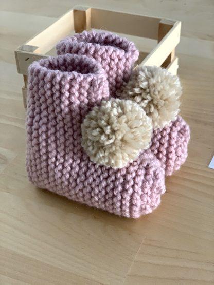 Botitas rosa palo