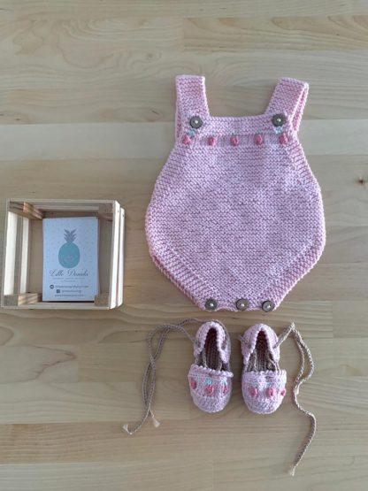 Conjunto Tutti Frutti rosa bebé