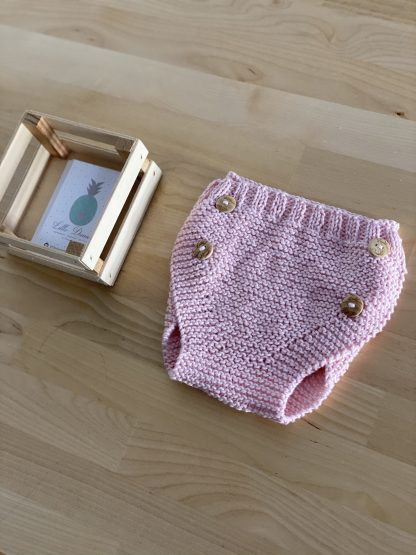 cubrepañal rosa bebe