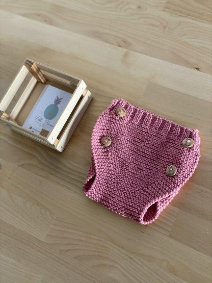 cubrepañal rosa frambuesa