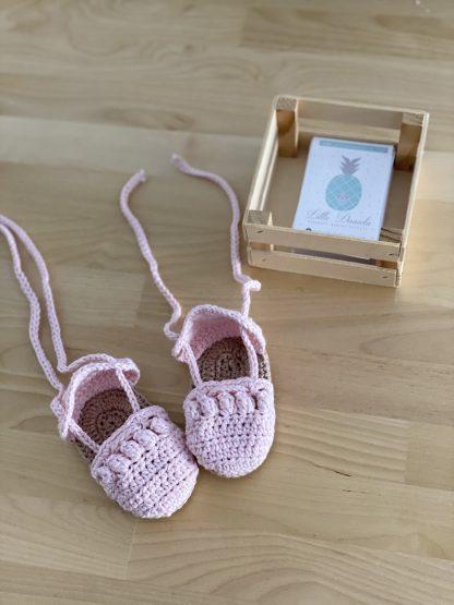 alpargatas rosa bebe